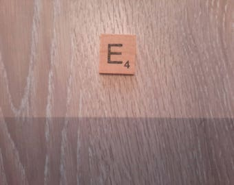 Letter E imitation of the popular scrabble game