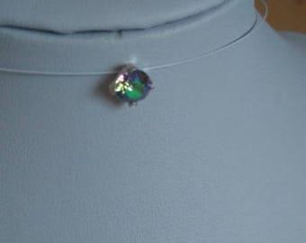 Very beautiful kitten necklace cristal paradise Swarovski nylon thread
