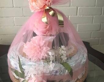 Large Baby Diaper Cake