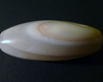 1 big bead dzi natural agate Nepal 55 x 20 mm