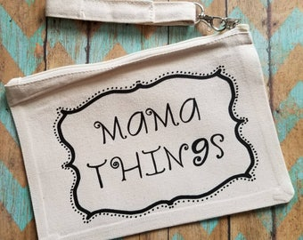 Mom Pouch, mama bag, mom bag, Mother's Day Gift, New Mom Gift, Baby Shower Gift, Mom Life, Mom makeup pouch
