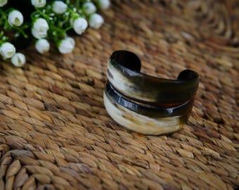Natural Horn Cuff Bracelet  - TA30111