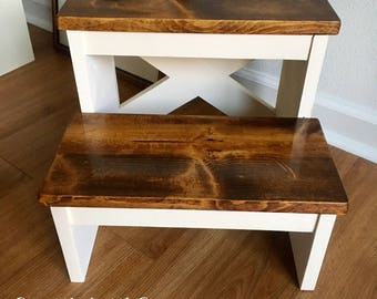 Rustic Kid's Step Stool
