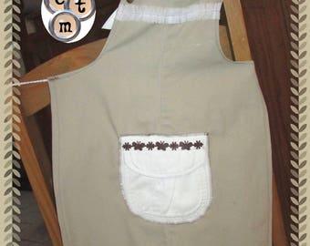 Recycled pants cotton baby apron