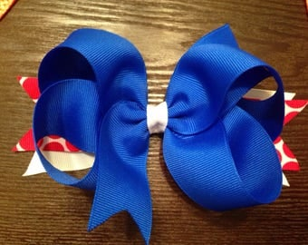Red, white, and blue bow
