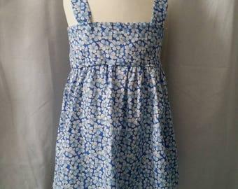 Dress 2-3 years with little straps blue flowers, kids dress, summer dress girls child dress, cheap girl's dress.