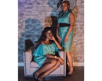 Turquoise African print Blazer