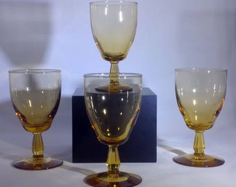 Set of four Mid-Century wine or water glasses