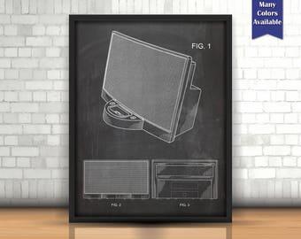 iPod Dock Patent, Technology Art, iPod decor, Unique Art, Geekery