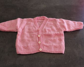 vest pink 3 months