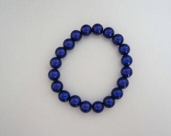 Magical beaded bracelet - Navy Blue