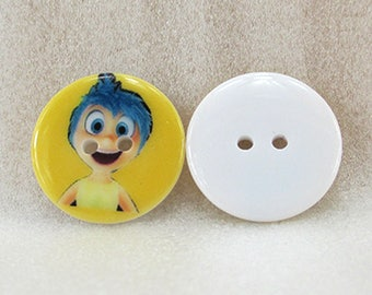 Set of 5 buttons cartoon VICE VERSA