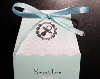 for tutu clip blue gift box