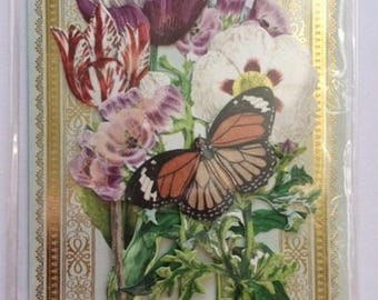 Floral hand made greeting card