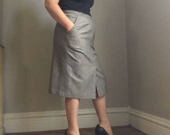 1970s Evan ponce vintage wool pencil skirt union made
