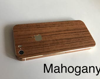 Wood Grained iPhone Skin Wraps 3G,4/4s,5/5s/SE,6/6s,6+/6s+,7,7+