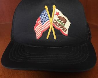 Black California Republic Snapback Hat