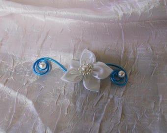 turquoise bridesmaid, wedding, or hair clip
