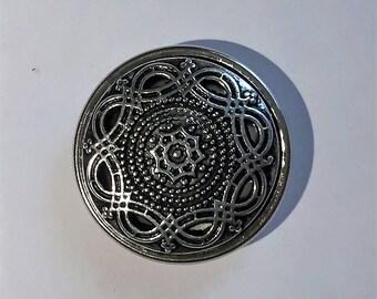 3 cm silver snap