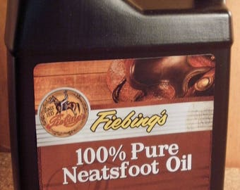 Fiebing's 16 oz. Pure neatsfoot oil Leather conditioner #304