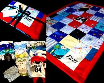 Childrens Bespoke Patchwork Memory Quilt