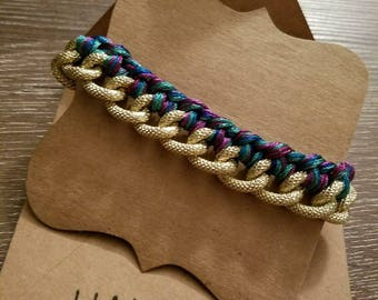 Braided chain link bracelet
