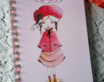 """Notebook illustrated """"I Miss You"""" print ❤"""