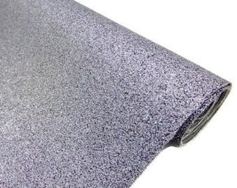 Tissu micro paillettes,  glitter coloris gris 30/25cm, à coudre pour customisation, couture et DIY , lavable