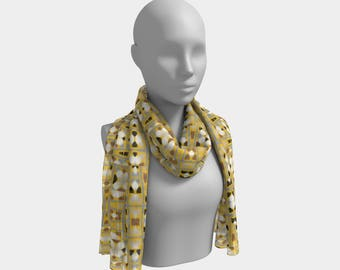 "Beautiful Scarf, Head Scarf, ""Window De Island, Made to order"""