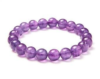 "Natural 8mm round beads about 7 ""Unisex gemstone Stretch Bracelet"