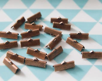 Set of 20 caps claw 16 mm for MULTISTRAND bracelets, copper