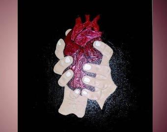 """Heart - 20"""" x 16"""" - acrylic on canvas - by: Cringle®"""