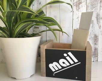 Rustic Mail Holder/Mail Organizer/Mail Holder/Rustic Office Mail/Mail Crate