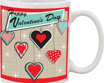 Retro Hearts mug