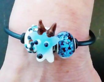 Bracelet - animals - deer - original design - hand made - made in France