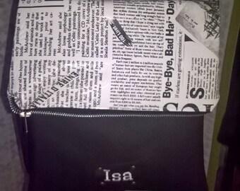 """shoulder bag with flap """"news"""""""