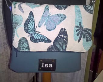"""butterflies"" flap shoulder bag"