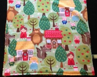 Napkin / taste for kindergarten - fairy tales (little Red Riding Hood)