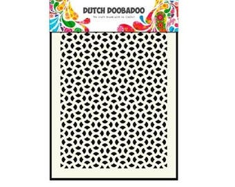 Stenciled Dutch Doobadoo Mask Abstract A5 new stencil Art