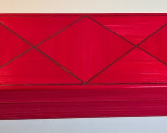 Pencil box with separations, red and black