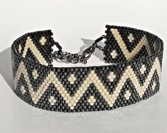 Bracelet peyote perles miyuki délicas 11/0