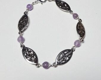 Bracelet filigree and genuine Amethyst
