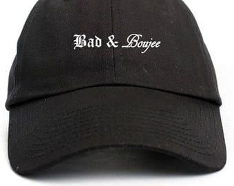 Bad & Boujee Dad Hat Adjustable Baseball Cap New - Black