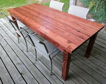 Rustic Patio Table