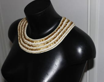 Modern ethnic chic necklace crochet