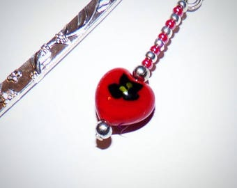 Red and black heart bookmark