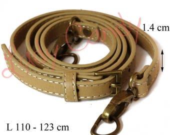 Faux Tan Leather adjustable length #330062 bag handle