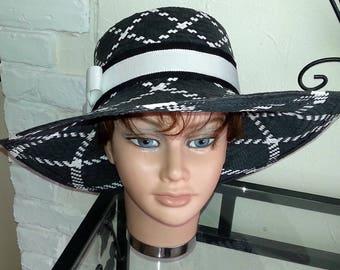 Wide-brimmed hat wide brim straw hat paper