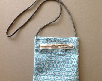 Turquoise print pocket for child