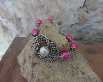 Bracelet Eclipse the beautiful pearls and Pink Pearl